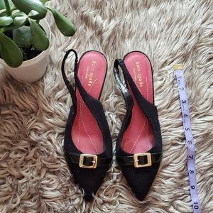 Kate Spade NY Tweed Slingback Heels